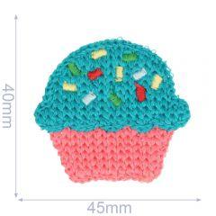 Applikation Cupcake gestrickt 45x40mm - 5Stk