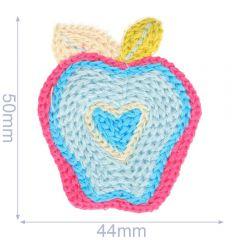 Applikation Apfel gestrickt 44x50mm - 5Stk
