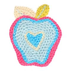 Applikation gestrickt Apfel - 5 Stück