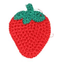 Applikation gestrickt Erdbeere - 5 Stück