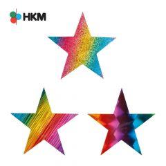 HKM Applikation Sterne Regenbogen - 3Stk