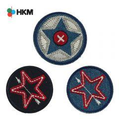 HKM Applikation Sterne im Kreis - 3Stk