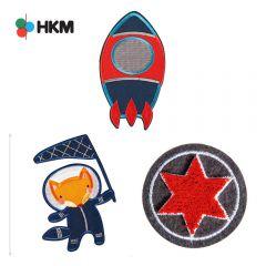 HKM Applikation Raumfahrt - 3Stk