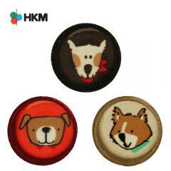 HKM Applikation Hunde Buttons - 3Stk