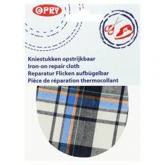 Opry Knie-Flicken zum Aufbügeln kariert 12x9,5cm - 5Stk