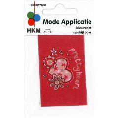 HKM Applikation Pretty Heart - 5Stk