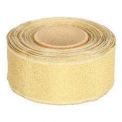 Band mit Drahtkante 40mm 25m - gold