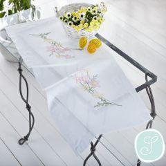 Simy's Stickpackung Tischdecke weiß - 1Stk