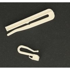 Gardinenhaken höhenverstellbar zum Einstecken 7cm - 100Stk