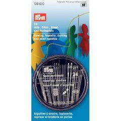 Prym Näh-Stick-Stopf-Perlnadel Sortiment silber - 5x24Stk