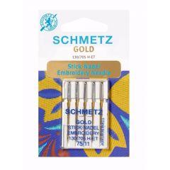 Schmetz Gold Sticken 5 Nadeln - 10Stk