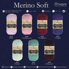 Scheepjes Merino Soft Sortiment 5x50g - 7 Farben - 1Stk