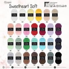 Scheepjes Sweetheart Soft Sortim. 5x100g - 27 Farben - 1Stk