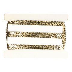 Lacklederband gold 20mm - 25m