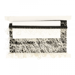 Band mit Kette elastisch schwarz/weiß - 10m