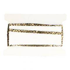 Lacklederband gold 10mm - 25m
