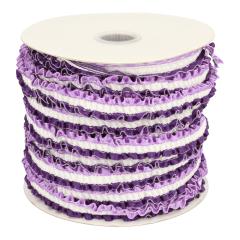 Rüschen-Satinband elastisch 12mm - 18,4m