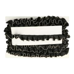 Rüschenband schwarz, weiß oder ecru 30mm - 15m