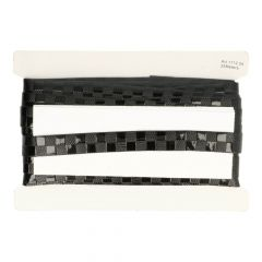 Lacklederband Karomuster Zweierreihe 20mm - 25m - 000
