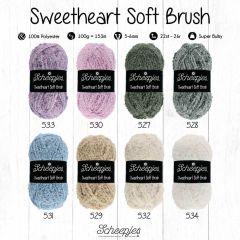 Scheepjes Sweetheart Soft Brush Sort. 5x100g - 8 Far. - 1Stk