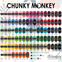 Scheepjes Chunky Monkey Sortiment 5x100g - 93 Farben - 1Stk