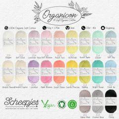 Scheepjes Organicon Sortiment 5x50g - 21 Farben - 1Stk