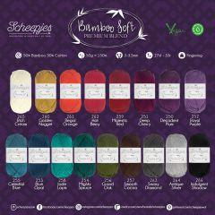Scheepjes Bamboo Soft Sortiment 5x50g - 17 Farben - 1Stk