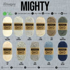 Scheepjes MIGHTY Sortiment 5x50g - 11 Farben - 1Stk