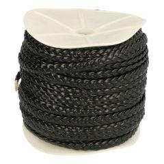 Geflochtenes Lederband breit 6mm 50m