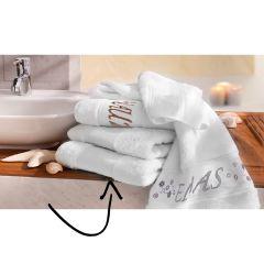 Tissu de Marie Stickpackung Handtuch 50x100cm weiß - 1Stk