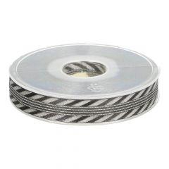 Band schwarz-silber 1,5cm - 18m