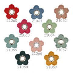 Ösen auf Skai-Kunstleder Blume 8mm - 50Stk - NI