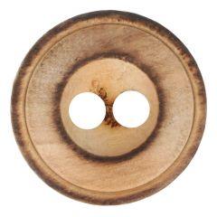 Knopf Holz geflammt 2-Loch Größe 32 - 20.00mm - 30Stk