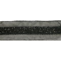 Tüllband mit Pailletten handgefertigt 45mm - 6m