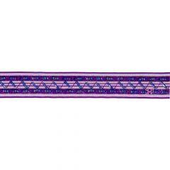 Band mit Blumen und Perlen 25mm - 9m