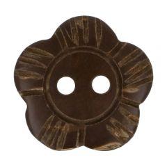 Holzknopf Blume 20 - 50 Stück