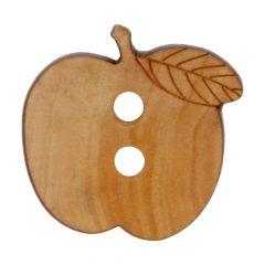 Holzknopf Apfel 24 - 50 Stück