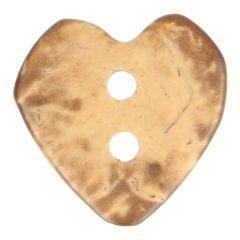 Holzknopf Herz 20 - 50 Stück