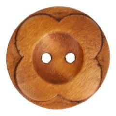 Holzknopf Blume 80 - 25 Stück