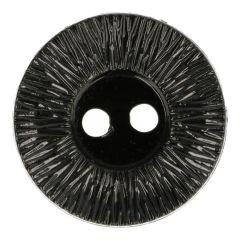 Knopf geriffelter Rand schwarz Größe 40 - 40Stk - 000