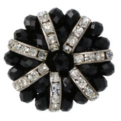 Handgefertigter Diamantknopf Größe 48 - 20 Stück