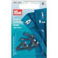 Prym Hosen/Rockhaken und Stege ST 9mm - 5 Stück G