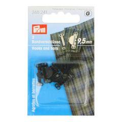Prym Hosen/Rockhaken und Stege ST 9,5mm - 5 Stück G