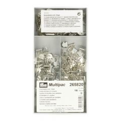 Prym NF-Hosenhaken + Stege/Schließplatte ST 13mm silb -1Stk.