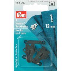 Prym Hosenhaken und Stege ST 12mm schwarz - 5 Stück G