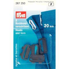 Prym Rockbundverschlüsse ST 20mm - 5 Stück F