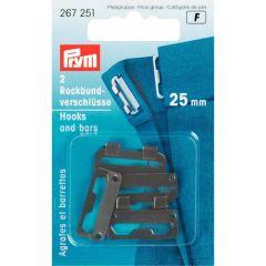 Prym Rockbundverschlüsse ST 25mm - 5 Stück F