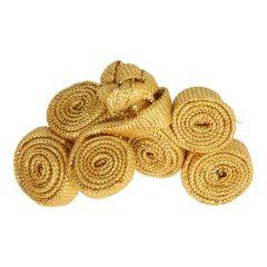 Chinesischer Verschluss Kreise klein 5cm - 12 Stück - gold