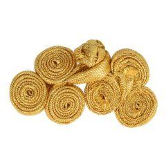 Chinesischer Verschluss Kreise groß 5,5cm - 12 Stück - gold