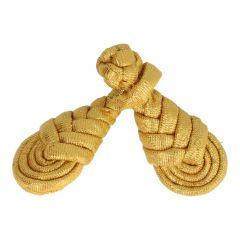 Chinesischer Verschluss geflochten groß 9cm - 6 Stück - gold
